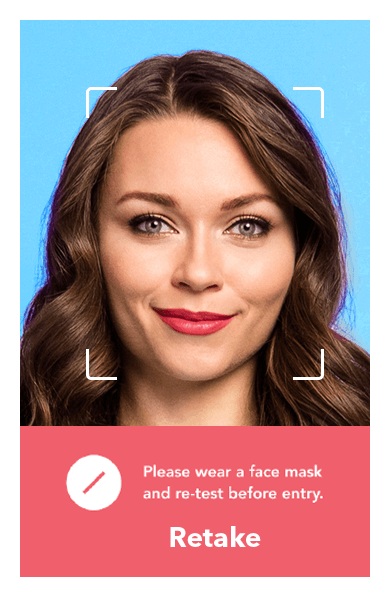 Greet individual instantly with facial and mask detection